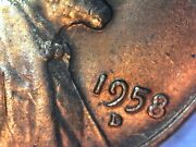 1958-d Lincoln Wheat Cent Penny - Au Bu Coin Double Die Obverse Error Rpm Red