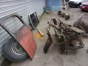 36 Chevy Seat,door,transmission Cover Plate And Window Frames