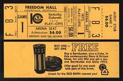 1972 Full Ticket Nets @ Colonels Playoffs Rick Barry Scores 50 Biggest Aba Upset