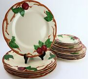 Lot Of 17 Vintage Francisca Apple 11 Dinner Plates 9.5 Luncheon Plates 1940-53