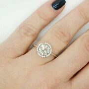 1.10 Ct Diamond Engagement Ring 14k White Round Shape Solid Gold Rings 6 8 7