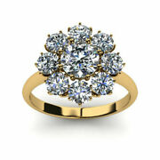 1.20 Ct Excellent Cut Real Diamond Wedding Ring 14k Yellow Gold Size 5.5 6 7 8 9