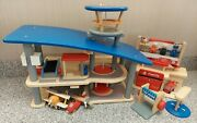 Plan City Wooden Toy Lot Airport. Fire Station Car Wash New Figures Plan Toys