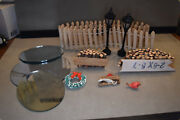 Assorted Mini Christmas Village Decorations Mixed Lot 1 Preowned