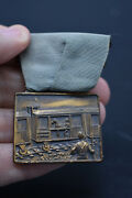 Vintage Pin Medal, Dated Mar. 11, 1923, Horse -military- Train Theme, Preowne