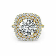 14k Yellow Gold Christmas Ring 1.20 Ct Round Cut Real Diamond Size 6 7 8 9