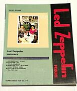 Led Zeppelin Presence Japan Band Score Song Book Guitar Tab / Jimmy Page