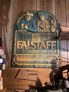 Vintage Falstaff Vacuform Sign ...all In This Together Aggressively Packed