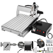 Cnc 6040 4 Axis Router Kit 1000w Pcb/pvc/wood Cnc Milling 4th Rotary Axis Usa