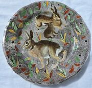 French Gien Service Rambouillet Dinner Plate Rabbits Hunting