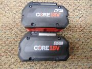 2 Bosch Gba18v80 Core 18v 8.0 Ah Lithium Ion Battery Packs No Packaging New
