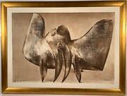 Listed Italian Artist Luciano Miori 1921-2006 Signed Mixed Media Painting