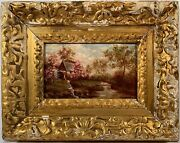 Frederick John Mulhaupt 1871-1938 Signed Oil Painting On Wood Panel