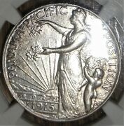 1915-s Panama Pacific Silver Half Dollar Commemorative Ngc Au Details Cleaned
