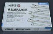 New Matco 6pc 9 - 21mm Metric Double End Flare Nut Flank Drive Line Wrench Set