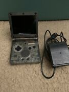 Gameboy Advance Sp Gba Ips V2 Screen Modded Smoke Black Clear W/ Charger And Game
