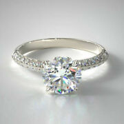 Natural 0.95 Ct Diamond Anniversary Rings Solid 18k White Gold Ring Size 6 7 8 9