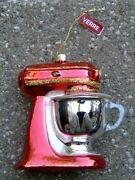 Vintage Glass Red Kitchenaid Stand Mixer Christmas Tree Ornament Cook Chef Bake
