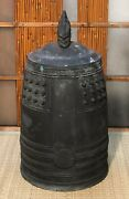Antique Japanese Bronze Temple Bell With Great Sound