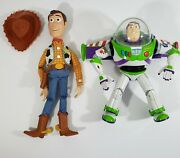 Vintage Disney Pixar Toy Story Pull String Woody Doll And Buzz Light-year Tested