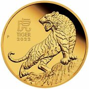 2022 Year Of The Tiger 1oz .9999 Gold Proof Coin - Lunar Series Iii - Pm