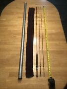 Rare 1952 Vintage 8014 Uslan Spencer Fly Rod 5-sided Bamboo 8andrsquo 4-1/4oz W/ X-tip