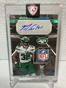 Michael Carter Black 1/1 One Of One Rpa Nfl Shield Auto New York Jets
