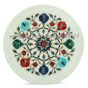 Decorative Wall Plate Handmade Marble Inlay Wall Plaques Cake Serving Platter