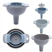 3 Plastic Funnel Set For Kitchen Home Tools Small Medium Large Funnel Kitchen