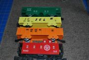 Vintage Lionel Atlantic Coast Line Caboose And 3 Marx Freight Cars