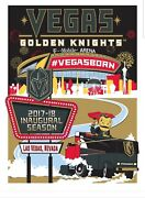 Vegas Golden Knights Limited Edition Inaugural Serigraph Poster 183/300
