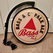 Vintage Bass And Co. Pale Ale Lighted Bar Sign - Double Sided