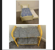 American Girl 2 Beds Lot For Dolls Used Flower Trundle Bed And Pc Yellow Bunk Bed