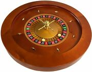 Deluxe 20 Yh Casino Grade Fullsize Roulette Wheel Handcrafted Wood With 2 Balls