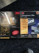 3m Transparency Film For Copiers 100 Clear Sheets 8 1/2 X 11 Pp2500 Set Of 2
