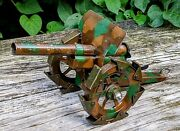 Antique Pre-war Ww1 Marklin Camouflage Cannon W/articulated Treads Tin Toy