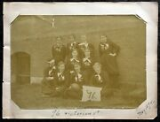 Antique 1894 Springfield College Womens Football Team Photograph Injured Player