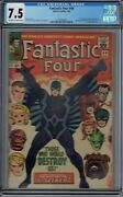 Cgc 7.5 Fantastic Four 46 1st Full Appearance And Cover Of Black Bolt Ow/w Pages