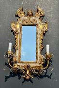 Vintage Carved Mirror Gold Italy Antique Ornate Wall Italian Style Florentine