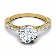 0.80 Ct Real Diamond Women's Wedding Rings Solid 14k Yellow Gold Band Size 6 7.5