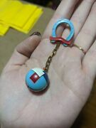 Vintage Puzzle Keychain Horsesoe And Ball