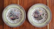 Set Of 2 Spode Thomas Kinkade Cottage Collector Plates 2005 Inspired Home