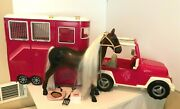 Our Generation Mane Attraction Horse Trailer Jeep Trailer Hitch Horse 18 Dolls