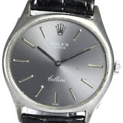Rolex Cellini Ref.3806 K18wg Cal.1600 Antique Hand Winding Menand039s_639319