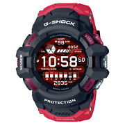 Casio G-shock Gswh1000-1a4 Red G-squad Pro Google Sports Watch Heart Rate New