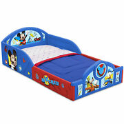 Mickey Mouse Toddler Bed Sleep Play Home Kid Bedroom Furniture Durable Plastic