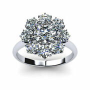 Real 1.20 Ct Round Diamond Engagement Ring Solid 18k White Gold Ring Size 7 8 9
