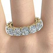 Solid 14k Yellow Gold 3.50 Ct Round Cut Diamond Engagement Band Size 5 6 7 8 9