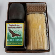 Vintage English Leather Timberline After Shave And Soap On Rope Gift Box Set Nos