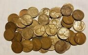1 1936-d Lincoln Wheat Cent Penny Roll Of 50 Coins Circulated